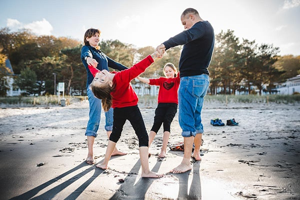 Fotograf aus Bernau mit Familie an der Ostsee